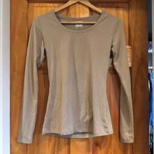 32 Degrees Beige Spandex Long Sleeve Top Size XS